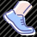 allowed, foot, shoe, walk