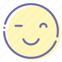emoji, face, smile, wink