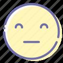 emoji, expressionless, face, pockerface