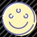emoji, eye, face, psychic icon