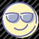 smile, face, emoji, cool