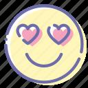 emoji, face, heart, inlove
