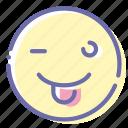 emoji, face, tongue, wink