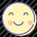 blush, emoji, face, smile