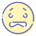 emoji, face, worried, worry