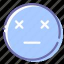 dead, emoji, face, finish