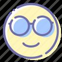 emoji, face, nerd, nerdy