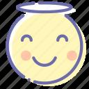 angel, emoji, face, smile