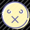 emoji, face, patch, sealed