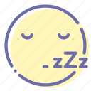 busy, emoji, face, sleep