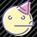 emoji, face, happy, party
