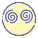 emoji, face, vertigo, zomby