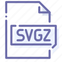 extension, file, scalable, svgz icon