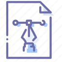 extension, file, pen, scalable icon