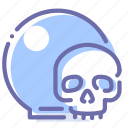 ball, crystal, magic, skull