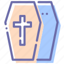 casket, coffin, halloween, tomb icon