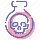 halloween, poison, potion, skull icon