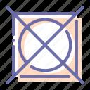dry, not, prohibited, tumble icon
