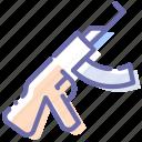 ak, kalashnikov, rifle, weapon icon