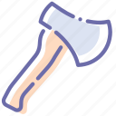 axe, hatchet, tomahawk, weapon icon