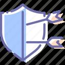 shot, protection, shield, arrow icon