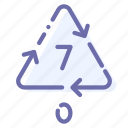 other, plastic, recyclable, seven icon