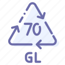 gl, glass, recyclable, transparent icon