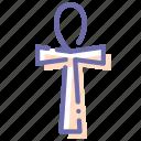 ankh, cross, egypt, life