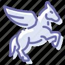 horse, pegas, religion, wing