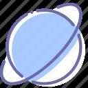 orbit, planet, saturn, space icon