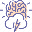 brain, creative, idea, storm icon
