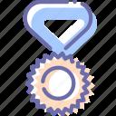 champion, medal, reward, sport icon