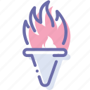 fire, game, olympic, torch icon