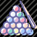 ball, billiard, cue, snooker icon