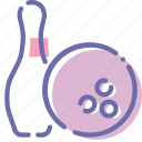 ball, bowling, game, skittle icon