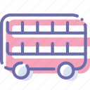 decker, double, transport, vehicle icon
