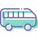 minibus, transport, vehicle icon