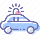 car, emergency, flashing, transport icon