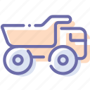 coal, industrial, mine, truck icon