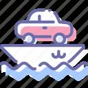 car, cargo, ship, transport, vessel