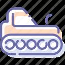 agrimotor, caterpillar, construction, tractor icon