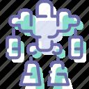 exoskeleton, robot, space icon