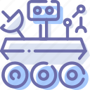 curiosity, robot, rover, space icon