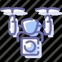 airdrone, camera, drone, quadcopter icon
