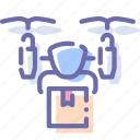 airdrone, delivery, drone, quadcopter icon