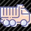 construction, transport, truck icon