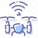 airdrone, drone, quadcopter, wifi icon