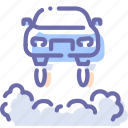 car, flying, future, transport icon