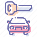 car, key, locked, transport