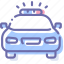 car, emergency, flashing, police icon